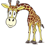 left-facing-giraffe